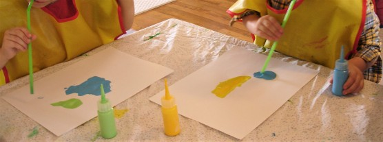 Painting with Wind (Air) Using Straws